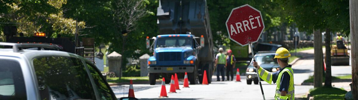 Signaleur formation chantier routier AQTr examen SAE Pavillon-de-l'Avenir